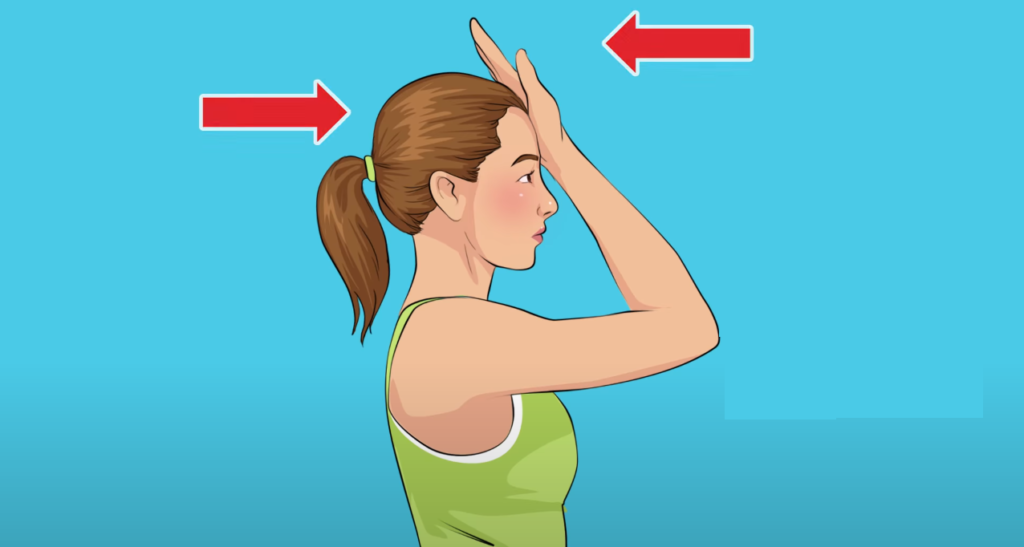 Dominant Hand Against Forehead, Step # 2